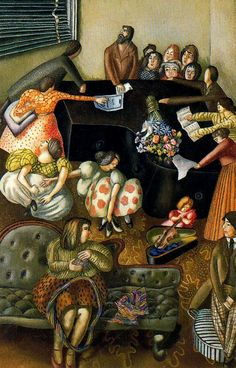 Stanley Spencer At the Piano, 1957