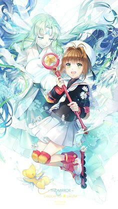 Sakura Kinomoto with The Mirror Clow Card from the Card Captor Sakura anime and manga series by CLAMP
