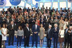 Queen Letizia of Spain Photos - Spanish Royals Visit Telecinco TV Channel - Zimbio