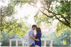 Josh & Kate's Classy Engagement Session at Robert E Lee Park // Dallas, TX