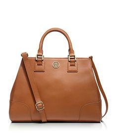 Cognac satchel