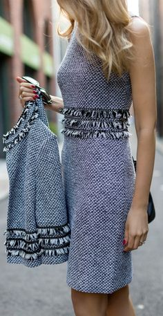The perfect way to incorporate a touch of the fringe trend in a classic way…