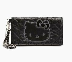 Hello Kitty Wristlet Pouch: Black Quilt