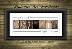 Custom Wedding Guest Book // Unique Wedding by alphabetcanvas, $15.00