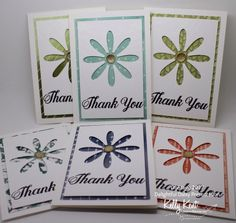 gift card set uses the negative from the punch OnStage 2017 – Daisy Delight Presentation | kelly kent