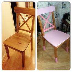Shades of pink upcycled chair!