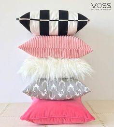 Almohadones Nordicos Piel / Set Rosa / Importados! - $ 495,00 en Mercado Libre Cute Cushions, Cute Pillows, Baby Pillows, Diy Home Crafts, Handmade Crafts, Diy Home Decor, Room Ideas Bedroom, Bedroom Decor, Glam Pillows