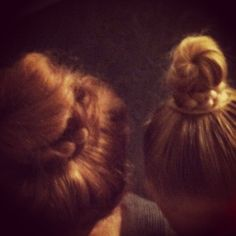 Me and mini-me #vlechtknot #braided bun
