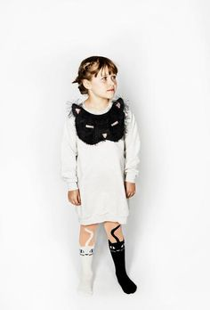 Add a fun touch to her wardrobe and keep her cosy at the same time with this Grey Marl Fluffy Cat Applique Pixie Bob Sweat Dress f Knit Leggings, Leggings Are Not Pants, Cat Tights, Girls Party Wear, Cat Applique, Sweat Dress, Fluffy Cat, Sweatshirt Dress, Kids Outfits