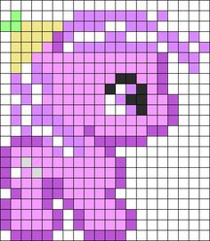 MLP Baby Discords Daughter Screwball perler bead pattern