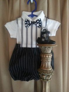 Baby Boy Clothes, Boys Bubble Romper, Baby Boy Dressy, Baby Booties, Baby Bow Tie, Twin Boys Clothes, Baby Boys Party Clothes by BlueStork on Etsy https://www.etsy.com/listing/210576641/baby-boy-clothes-boys-bubble-romper-baby