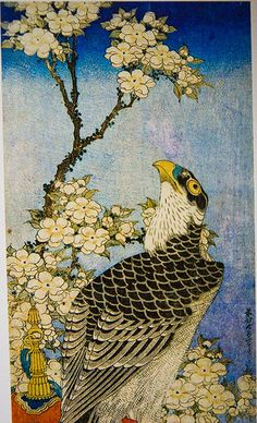 Hokusai - Raptor in Flowering Tree