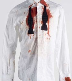 Daniel Craig's blood-stained shirt from Casino Royale Cleaners Homemade, Character Costumes, Cleaning Hacks, Coat, Organising, Household Tips, James Bond, Organize, Blood