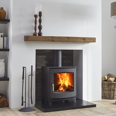 DG Ivar 5 Woodburning Stove sold by Grate Expectations Wood Stove Chimney, Gas Stove Fireplace, Wood Burner Fireplace, Slate Fireplace, Inglenook Fireplace, Modern Fireplace, Wood Stove Wall, Modern Log Burners, Modern Wood Burning Stoves