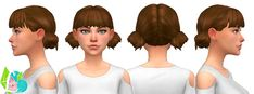 Low Double Buns at SimLaughLove • Sims 4 Updates