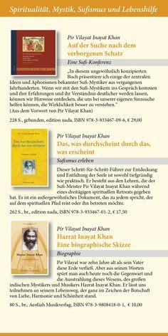 Katalog 2015 vom Verlag Heilbronn -  Seite 10 - Sufibücher von Pir Vilayat Inayat Khan: Auf der Suche nach dem verborgenen Schatz; Das, was durchscheint durch das, was erscheint; Hazrat Inayat Khan-Eine biographische Skizze.   www.verlag-heilbronn.de
