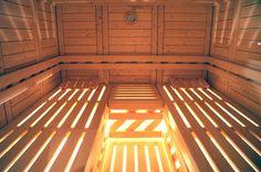 Massivholz-Sauna