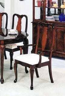 Set Of 2 Chippendale Style Cherry Finish Dining Chairs