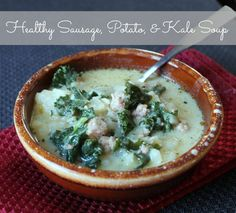 Sausage, Kale, and Potato Soup (Copycat Olive Garden Zuppa Toscana) Lauren Boetcher Substituted red for the russet potatoes and just a tiny bit of salt. Still plenty of flavor.