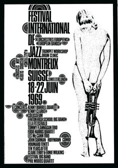 Artwork by Eric Wondergern, Montreux Jass Festival, 1969. The official posters of the Festival since its beginning in 1967: http://www.montreuxjazzlive.com/posters-images