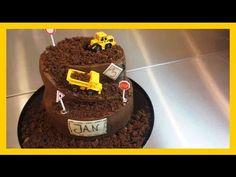 30Minuten Baustellen Torte - Kindergeburtstags Baustellen Kuchen ohne Fondant - Kuchenfee - YouTube