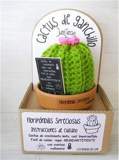 Cactus Floripondilis Spreciosus, , Artículos de papelería, librería y regalo - Libro en Fnac.es Crochet Cactus, Crochet Art, Crochet Flowers, Crochet Toys, Crochet Patterns, Yarn Crafts, Diy And Crafts, Craft Show Ideas, Creative Gifts