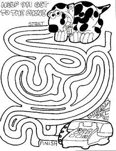 fire safety coloring page | Fire Safety - Preschool | Pinterest ...