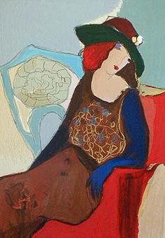 Lady Sitzendem, Art Itzchak Tarkay