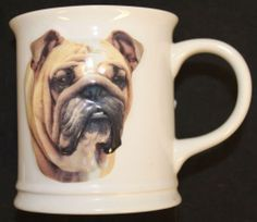 Bulldog Mug Coffee Cup Raised 3D Image Best Friends Originals Xpres 2004