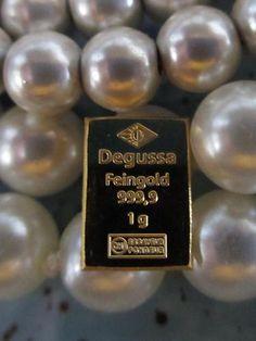 1 gram .9999 fine 24K GOLD Degussa Bar from Degussa, Germany
