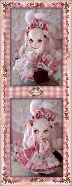 ** Milk Tea ** カスタムブライス *.。スィートミルクうさぎ .。* - ヤフオク! Doll Repaint, Dollhouse Dolls, Custom Dolls, Ball Jointed Dolls, Blythe Dolls, Beautiful Dolls, Cool Toys, Doll Clothes, Teddy Bear