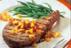 Citrus-Rubbed Veal Chops & Mango Salsa - Veal Made Easy  *For recipe, visit: http://vealmadeeasy.com/recipes/citrus-rubbed-veal-chops-mango-salsa/
