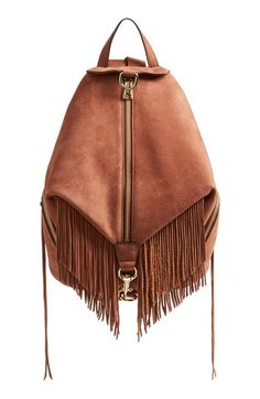 Free shipping and returns on Rebecca Minkoff 'Fringe Julian' Backpack at Nordstrom.com. A campus-classic backpack takes a vintage turn with lavishly textured leather and eye-catching fringe trim. An enameled clip-lock detail and dangling zip tassels add signature touches.