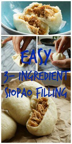 siopao recipe philippines how to make Siopao Filling Recipe, Lumpia Recipe, Best Siopao Dough Recipe, Pork Asado Siopao Recipe, Baked Siopao Recipe, Filipino Dishes, Filipino Food, Filipino Appetizers, Gourmet