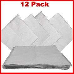 """White Bandanas - Solid Color 27"""" X 27"""" (12 Pack)"""
