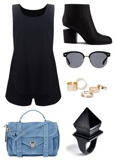 """""""Outfit_12"""" by frederikkefh ❤ liked on Polyvore featuring Macabre Gadgets, Alexander Wang, Proenza Schouler, Oliver Peoples and MANGO"""