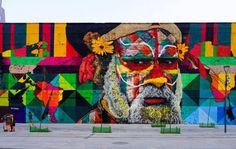 Gold Medal Street Art: World Record Mural in Rio Stretches 600... #weburbanist #arts #street_art
