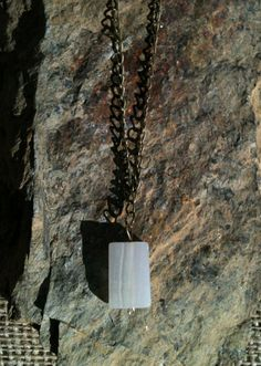 Handmade White Italian Onyx Rectangle Antiqued by MetalsByMelissa, $25.00    https://www.etsy.com/listing/115803447/handmade-white-italian-onyx-rectangle