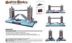 Tower Bridge, England. free template and download. http://speckyboy.com/2011/04/08/40-amazing-papercraft-templates-for-the-geek-inside-you/