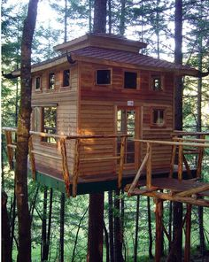 #Architecture | Vertical Horizons Treehouse Paradise located in Cave Junction, OR. I want to go here!!!