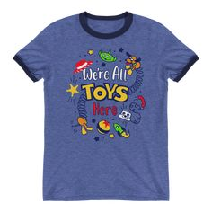 Re all toys here! - toy story - ringer unisex tee в 2019 Disney World Shirts, Disney Shirts, Disney Clothes, Cute Tshirt Sayings, Cute Tshirts, Shirts For Teens Boys, Boys Shirts, T Shirt Diy, Sweater Shirt