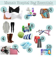 Hospital Bag Essentials. Mama, Baby, and Technology.