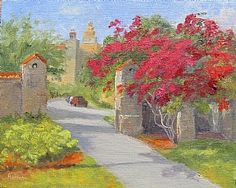 "Gateway to the City by Linda Apriletti Oil ~ 8"" x 10"""