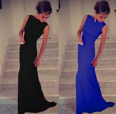 New Sexy Women Sleeveless Prom Ball Cocktail Party Dress Formal Evening Gown #Unbranded #Maxi #Clubwear