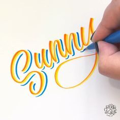 Sunny Sunny ☀️ Brush lettering by Chrystal Elizabeth Chrystal Elizabeth using Pentel Sign Brush Tip Pens - Calligraphy Worksheet, Calligraphy Drawing, Calligraphy Handwriting, Calligraphy Letters, Calligraphy Video, Calligraphy Alphabet Tutorial, Calligraphy Lessons, Calligraphy Christmas, Brush Pen Calligraphy