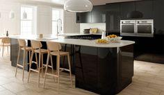 Zurfiz Ultragloss Black Modern Kitchen - By BA Components