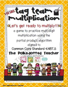 Let's Get Ready to Multiply! Partial Product Multiplication, Multi Digit Multiplication, Multiplication Strategies, Common Core Math, Common Core Standards, Math Resources, Math Activities, Math Games, Math Classroom