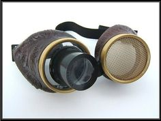 Hive Steampunk AirPirate Goggles   Wasp Eye by OntheWingsofSteam, $35.99