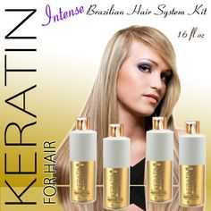 KERATIN FOR HAIR INTENSE BRAZILIAN KERATIN TREATMENT 4PC KIT 473ML / 16 FL OZ ** You can find more details by visiting the image link.