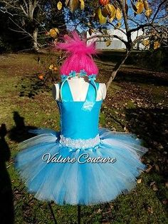 Poppy Troll Hair Headband Wig Costume Bow Trolls Child Teen Infant Toddler Youth